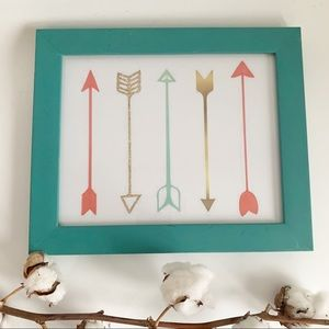 Sixtrees Turquoise Photo Frame With Picture